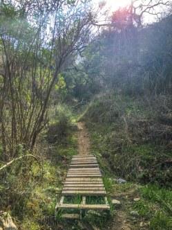 Rustic bridge on the La Tuna Canyon Trail