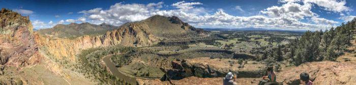 Panoramic view from Misery Ridge