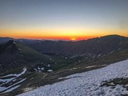 Sunrise as we ascend Grays Peak