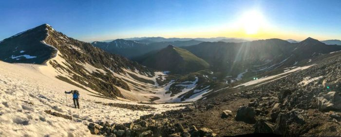 Mike on the approach to Grays Peak