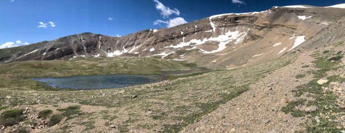 Small tarn below Horseshoe Mountain