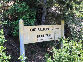 Trail sign for the Barr Trail