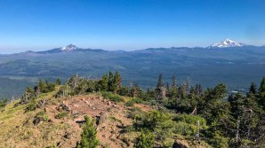 Site of the old cabin on Black Butte