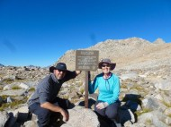 Photo op at the Bishop Pass sign