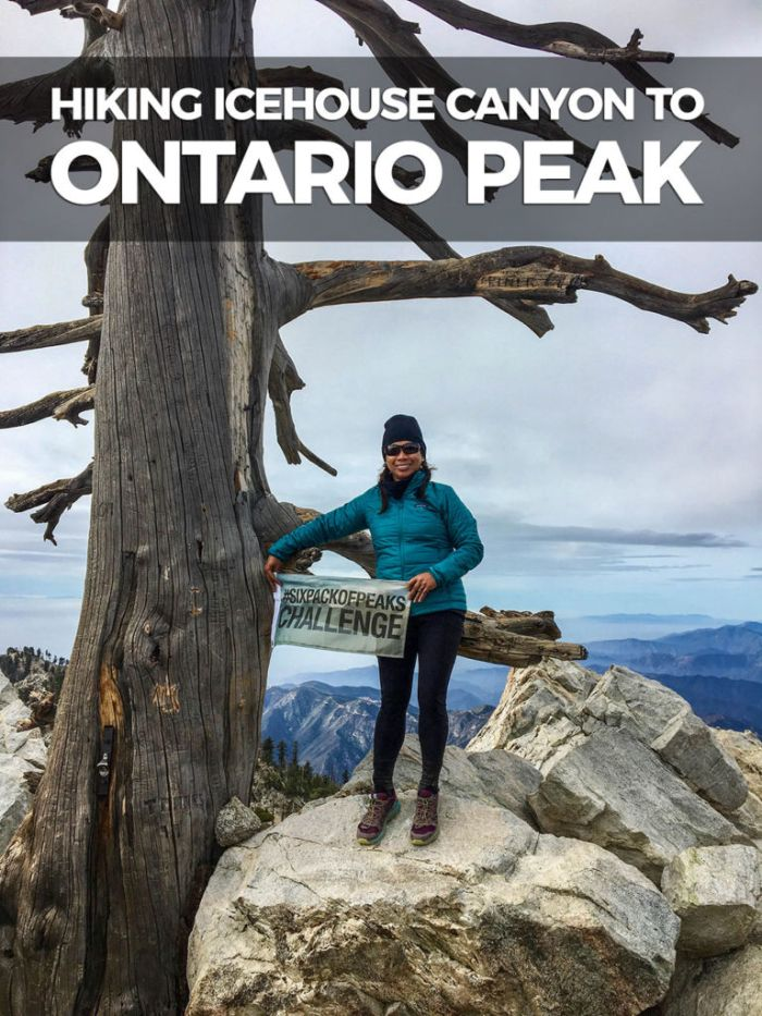 Six-Pack of Peaks Ambassador CeCe atop Ontario Peak