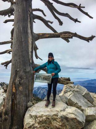 Six-Pack of Peaks Ambassador CeCe on Ontario Peak