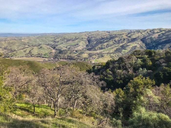 Last downhill to Del Valle