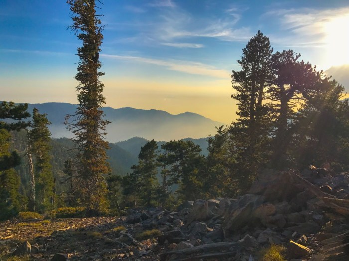 Sunset from Red Rock Camp on the San Bernardino Divide Trail