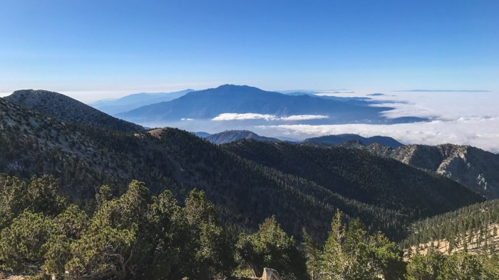 Our first, early morning view of Mount San Jacinto