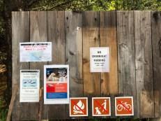 No dogs, no bikes and no campfires