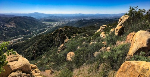 View toward Escondido from Stanley Peak in Daley Ranch