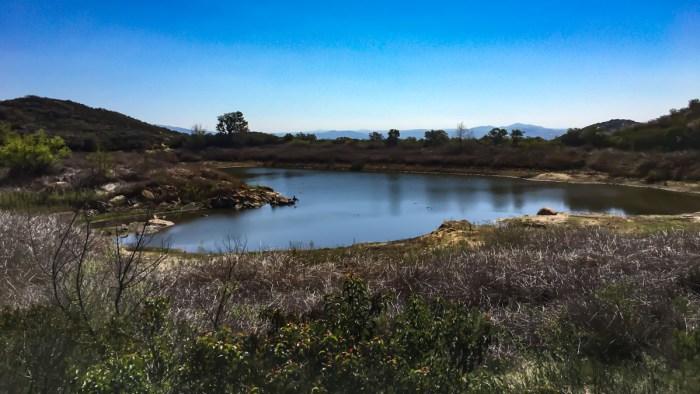 Idyllic Mallard Lake along the Sage Trail in Daley Ranch
