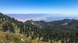 Mountain Station and Palm Springs from the side of Mt San Jacinto