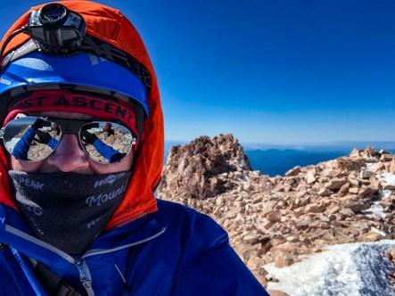 At the summit of Mt Shasta