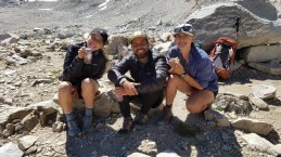 Happy Hikers at Muir Pass