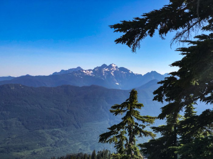 The views begin to open up through the trees on Pilchuck