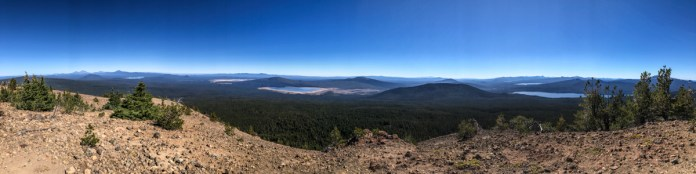 Panoramic view from atop Maiden Peak