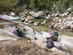 Day 4 - rest break on Woods Creek