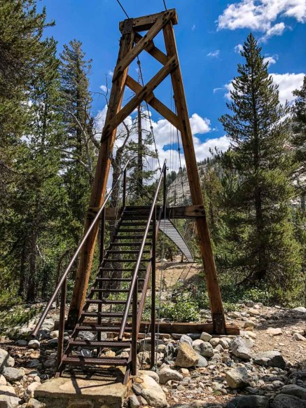 Woods Creek JMT suspension bridge