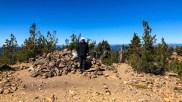 Rockpile on the summit of Maiden Peak