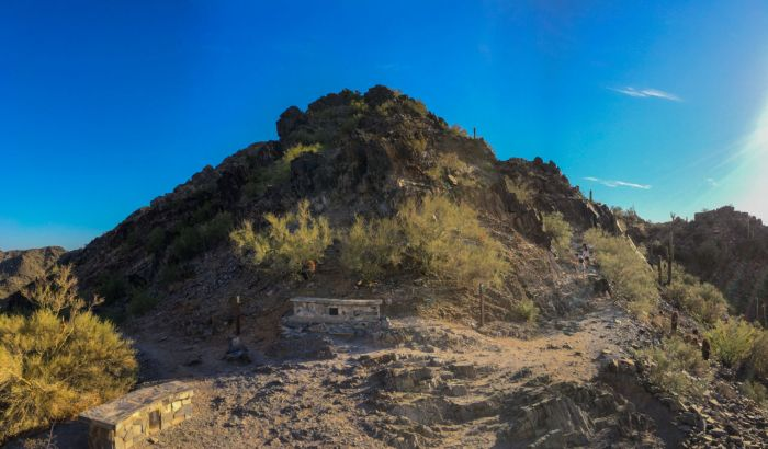 Saddle en route to Piestewa Peak