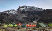 Camp below Kilimanjaro