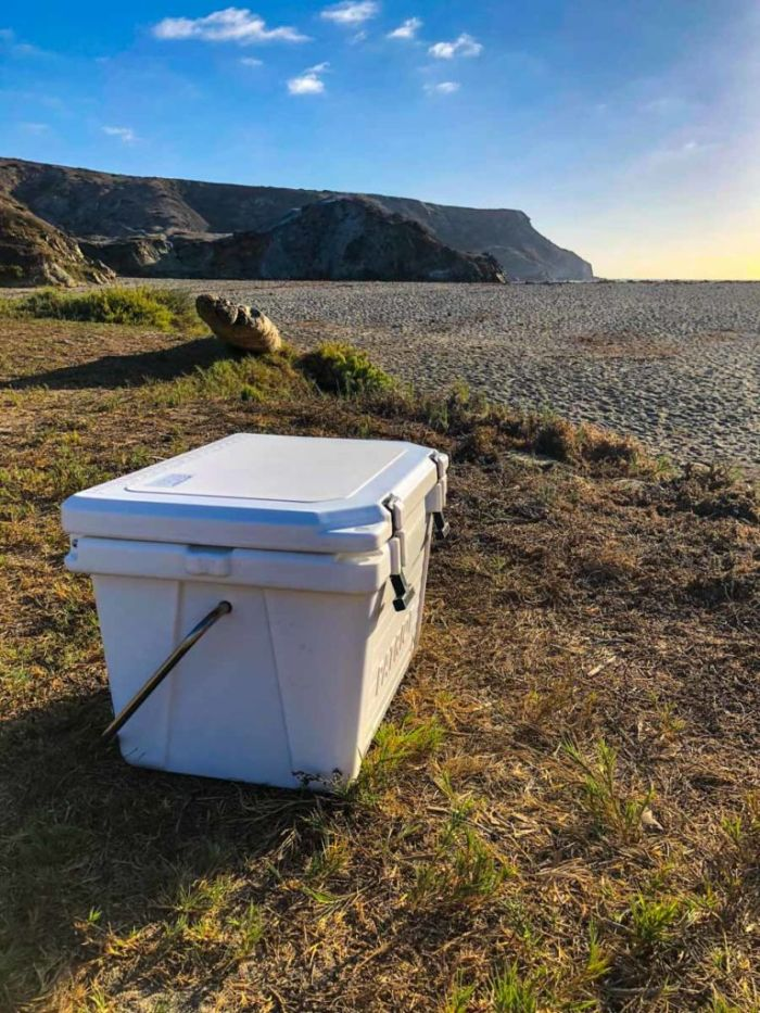 On the Trans-Catalina Trail with Patriot Cooler