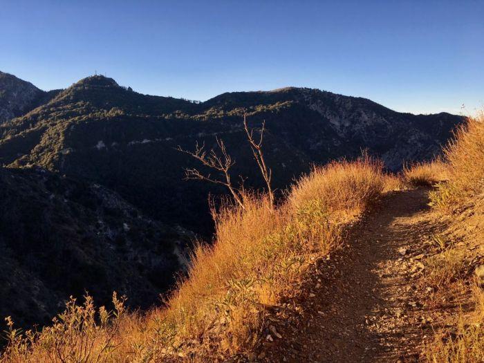 The Strawberry Peak trail begins