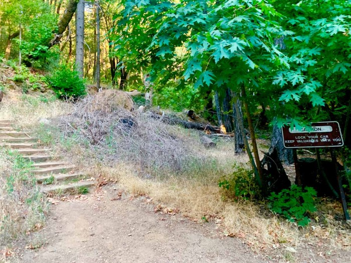 Start of the Mt Saint Helena Trail
