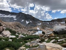 Upper Ottoway Lakes from Red Peak Pass Trail