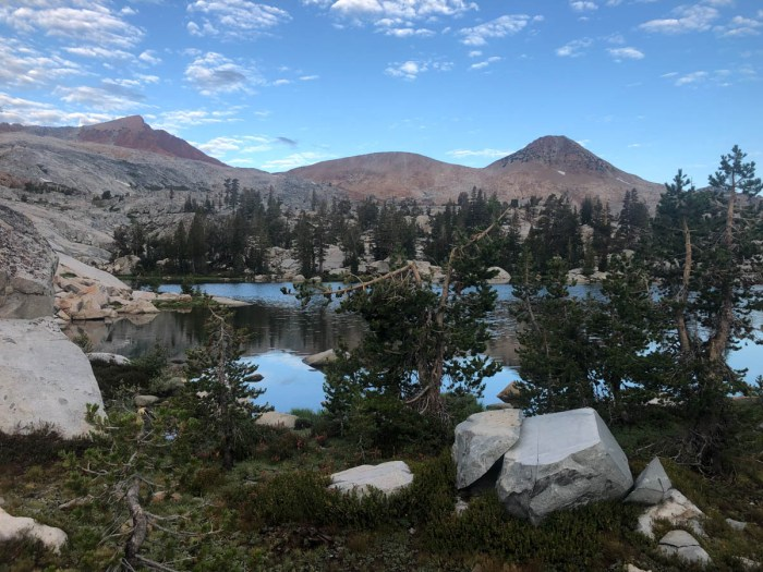 Our campsite in the Clark Range Basin after the 5 hour storm passes