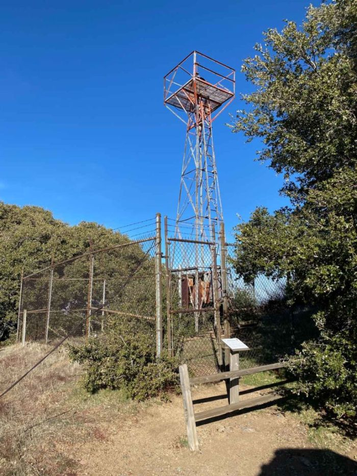 US Air Mail Signal Tower atop Volcan Mountain