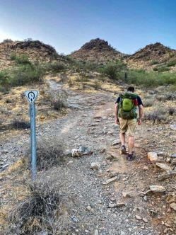 Richard taking Trail 1A