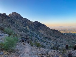 On the shady side of Piestewa