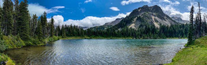 Panorama of Mystic Lake