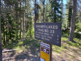 Swampy Lakes Trail Junction
