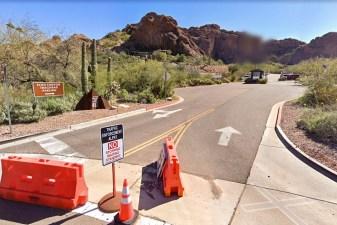 Entering Echo Canyon Trailhead Parking