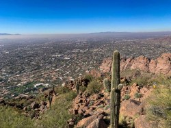 Downtown Phoenix from Camelback Mountain