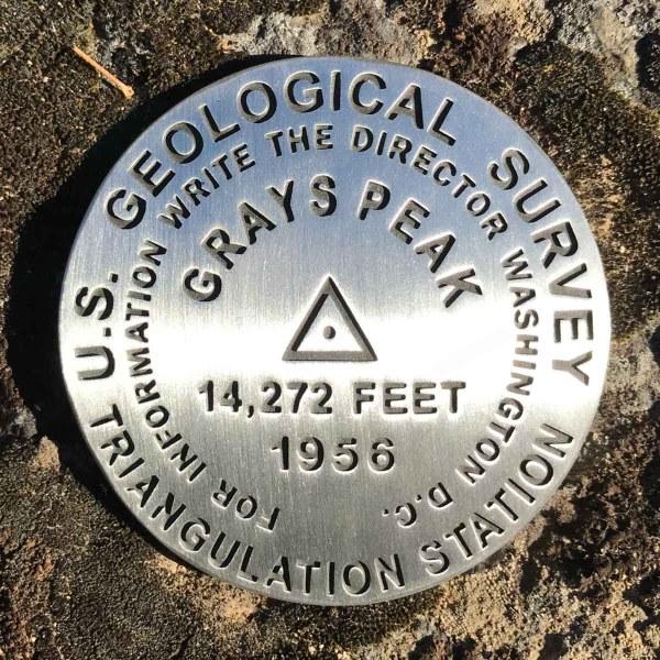 Grays Peak benchmark
