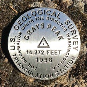 Grays Peak benchmark