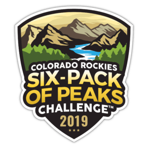 2019 Colorado Rockies Six-Pack of Peaks Challenge logo