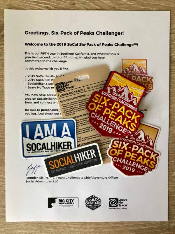 2019 SoCal Six-Pack of Peaks Challenge Welcome Packet