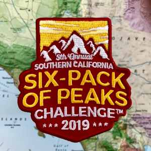 2019 SoCal Six-Pack of Peaks Challenge Patch