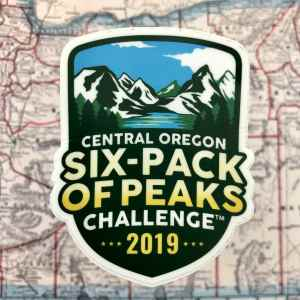 2019 Central Oregon Six-Pack of Peaks Challenge Sticker