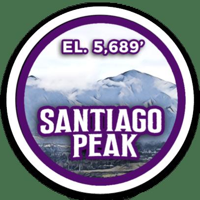 Santiago Peak Sticker