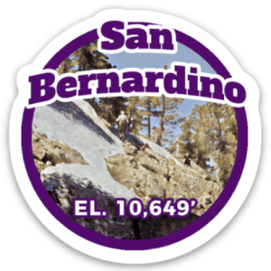 San Bernardino Peak Sticker
