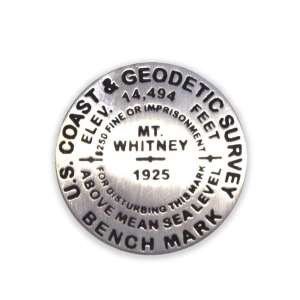 Mount Whitney benchmark pin