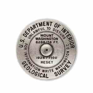 Mount Washington benchmark pin