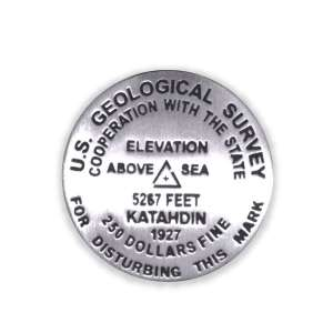 Mount Katahdin benchmark pin