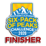 2020 SoCal Six-Pack of Peaks Challenge Finisher